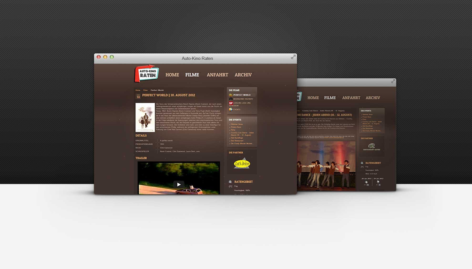 auto kino raten web360 full service design agentur. Black Bedroom Furniture Sets. Home Design Ideas